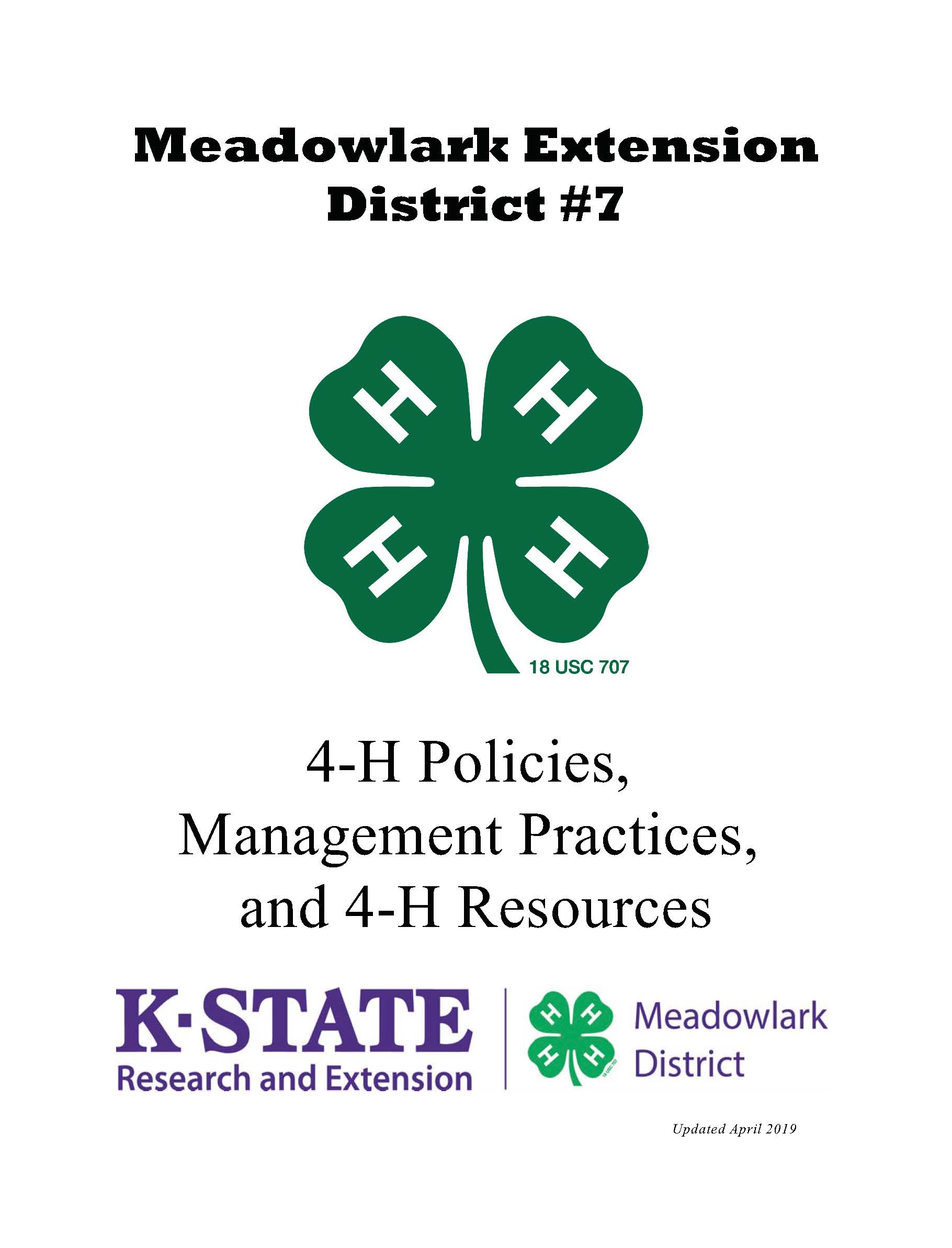4-H Policy Manual
